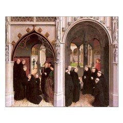Healed Knight & Son at Monastery 1459 Print