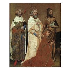 Richard II with his Patron Saints Print