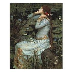 Ophelia with Flowers Print