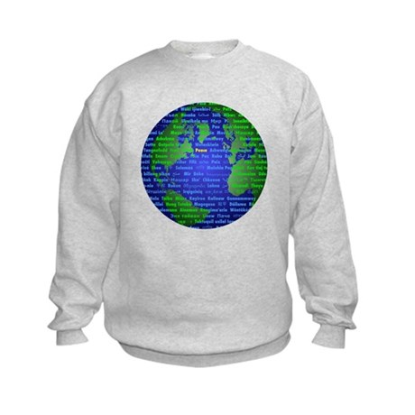 Peace On Earth English Kids Sweatshirt
