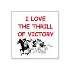 "HORSE racing Square Sticker 3"" x 3"""