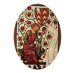 Tapestry Oval Ornament
