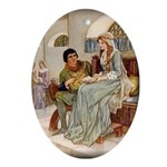 The Lovers Oval Ornament