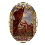 King Arthur in Barge Oval Ornament