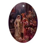 Wedding of Arthur & Guinevere Oval Ornament