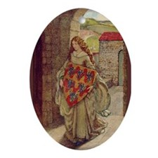 Lady Guinevere 2 Oval Ornament