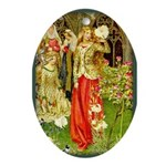 Lady in the Garden Oval Ornament