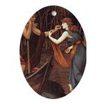 Psyche & Charon Oval Ornament