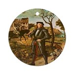 Portrait of a Knight Ornament (Round)