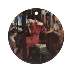 Penelope and Her Suitors Ornament (Round)