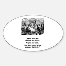 Jesus Chilling Oval Decal