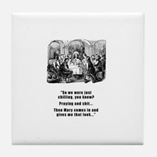 Jesus Chilling Tile Coaster