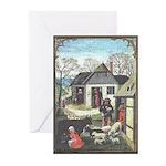 Medieval Village Scene Note Cards (10)