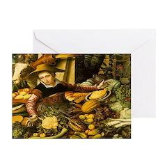 Medieval Vegetable Vendor Note Cards (10)