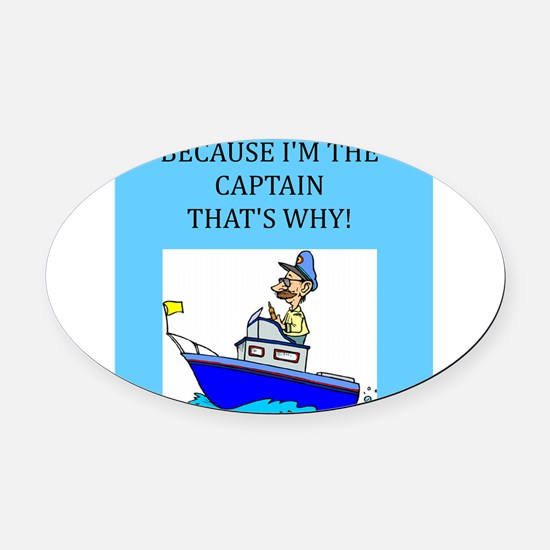 funny jokes sports captain boat boating Oval Car M