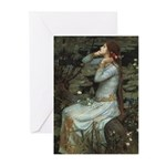 Ophelia with Flowers Note Cards (Pk of 10)