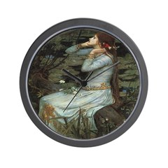 Ophelia with Flowers Wall Clock