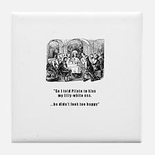 Jesus in trouble Tile Coaster