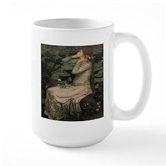 Noblewoman With Flowers Large Mug