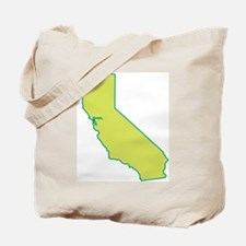 California State Shape Tote Bag