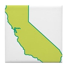 California State Shape Tile Coaster