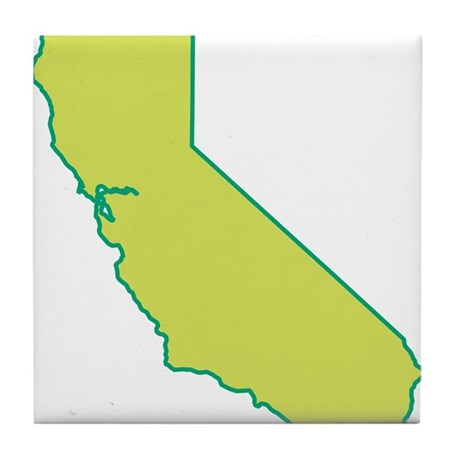 California State Shape Tile Coaster By Symbolsonstuff