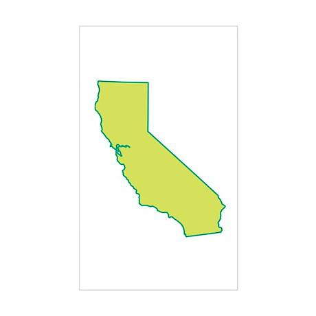 California State Shape Rectangle Sticker