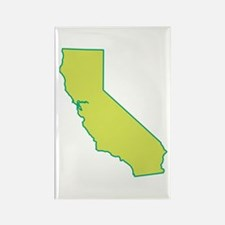 California State Shape Rectangle Magnet