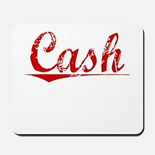 Cash, Vintage Red Mousepad