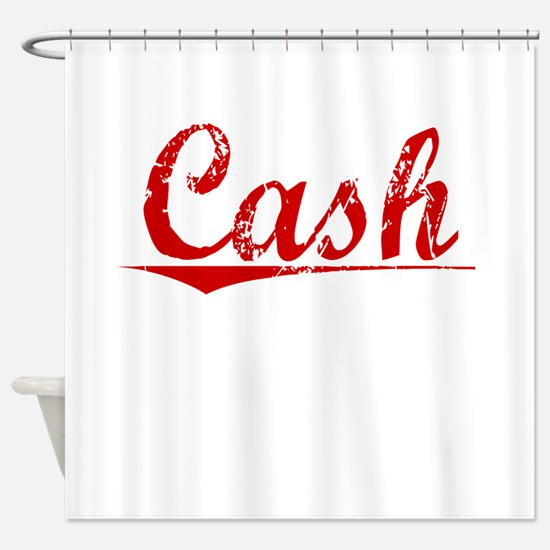 Cash, Vintage Red Shower Curtain