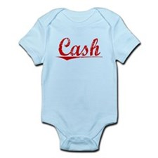 Cash, Vintage Red Infant Bodysuit