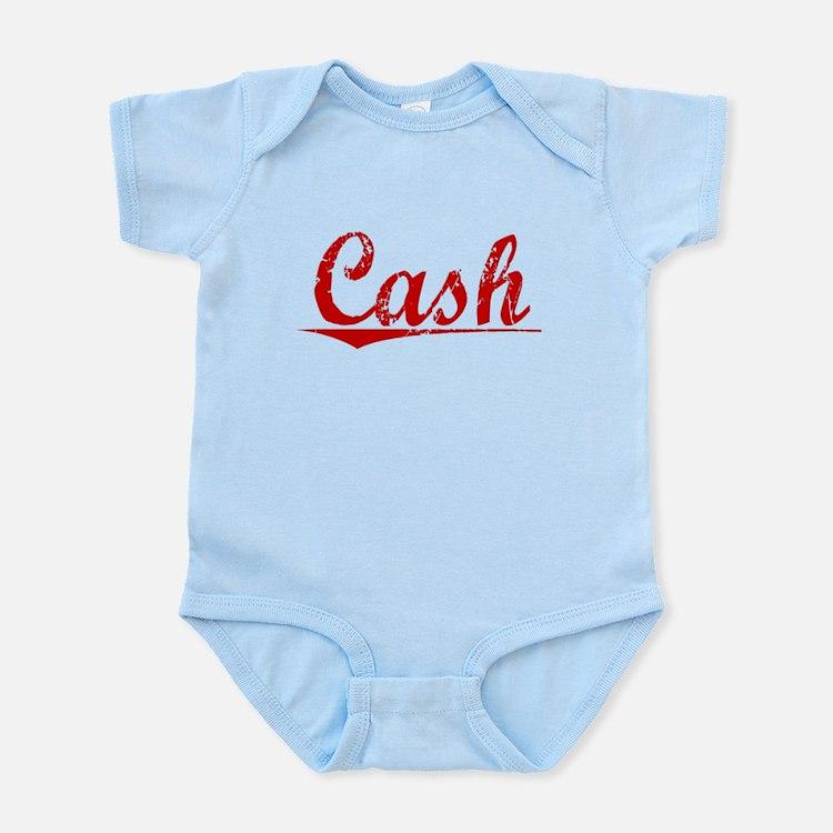 Cash, Vintage Red Infant Bodysuit