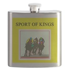 thoroughbred horse racing race track joke Flask