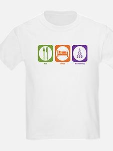 Eat Sleep Accounting Kids T-Shirt
