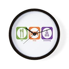 Eat Sleep Accounting Wall Clock