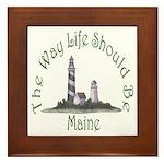 Maine State Motto Framed Tile