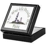 Maine State Motto Keepsake Box