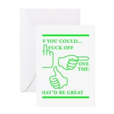 fuck off green.png Greeting Card