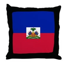 Flag of Haiti Throw Pillow