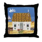 Seaside Cottage Throw Pillow