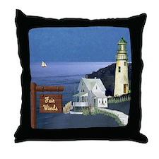 Fair Winds Cottage Throw Pillow
