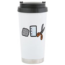 Rock, Paper, Scissors! Travel Mug