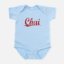 Chai, Vintage Red Infant Bodysuit