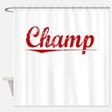 Champ, Vintage Red Shower Curtain