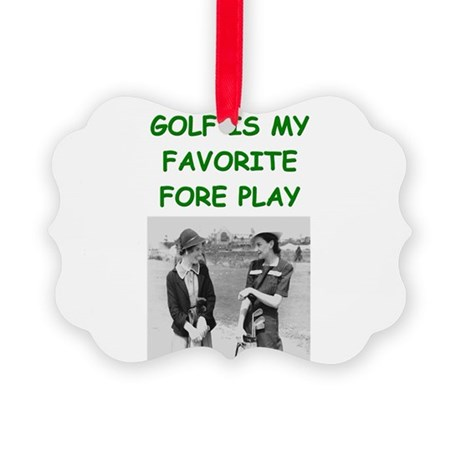 funny games player joke golf golfer Picture Orname
