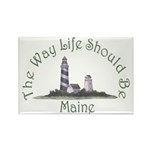 Maine State Motto Rectangle Magnet (10 pack)
