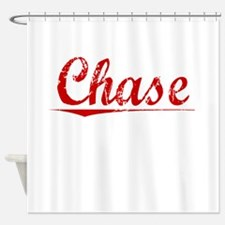 Chase, Vintage Red Shower Curtain