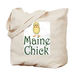 Maine Chick Tote Bag