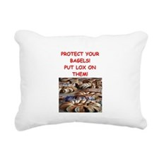 bagels and lox Rectangular Canvas Pillow