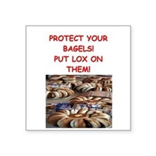 """bagels and lox Square Sticker 3"""" x 3"""""""